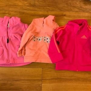 Baby Girls Sweater Lot (3 pieces)